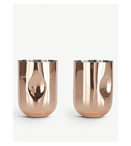 TOM DIXON Plum moscow mule mugs x2