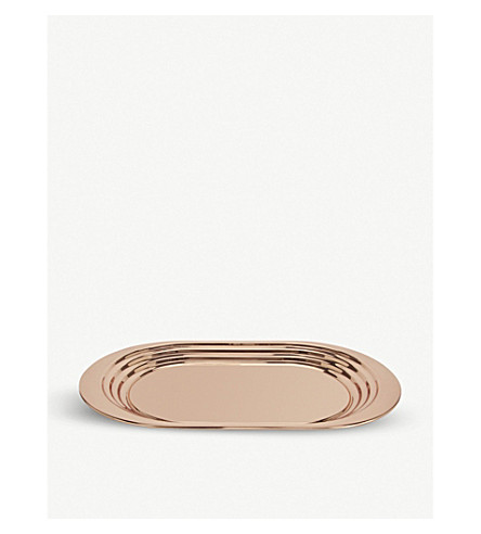 TOM DIXON Plum copper curved tray