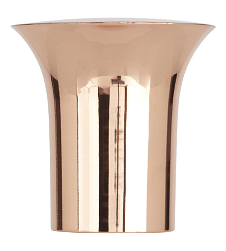 TOM DIXON Plum copper plate wine cooler