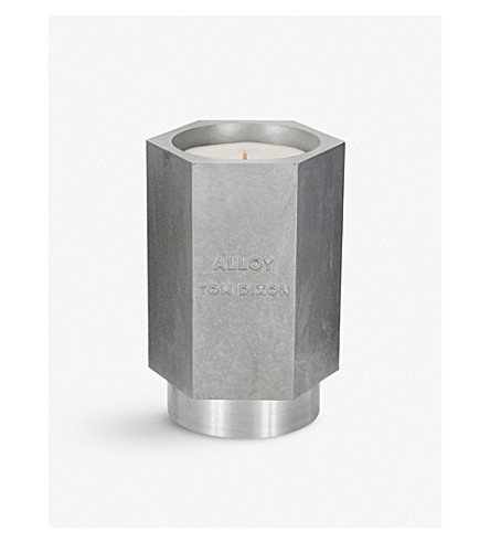 TOM DIXON Alloy large scented candle