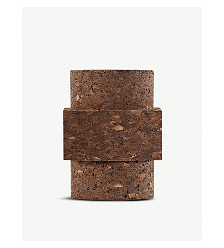 TOM DIXON Large cork large scented candle 800g