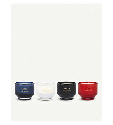 TOM DIXON Elements scented candles set of four