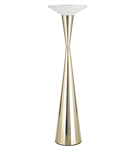 TOM DIXON Stone candle holder floor brass