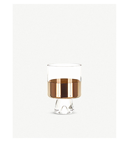 TOM DIXON Tank bronze and glass tumblers set of two