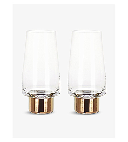 TOM DIXON Tank high ball pair of tow glasses