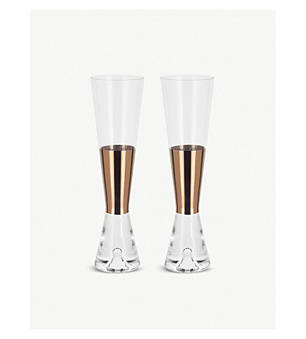 TOM DIXON Tank champange glasses pair