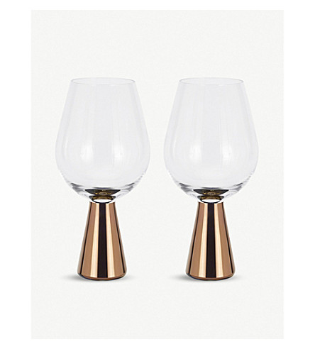 TOM DIXON Tank wine glasses pair