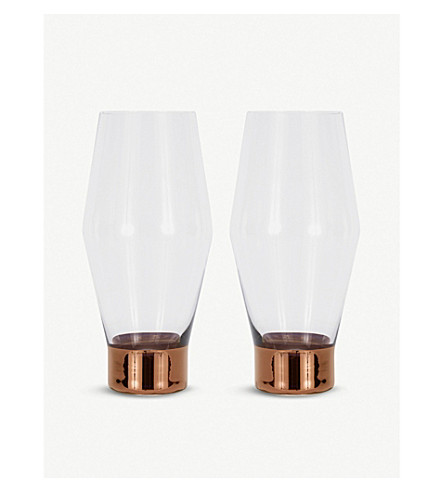 TOM DIXON Tank beer glasses
