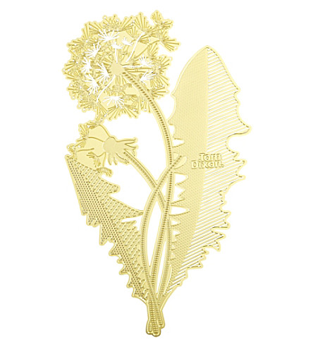 TOM DIXON Tool the Bookworm dandelion bookmark