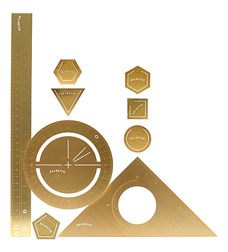 TOM DIXON Tool the Mathematician brass gift set