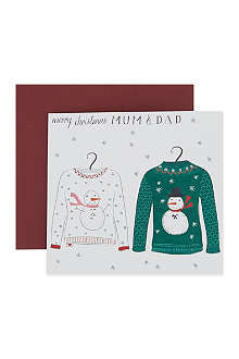 NONE Merry Christmas Mum and Dad card