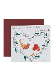 NONE Happy Christmas Wonderful Husband card