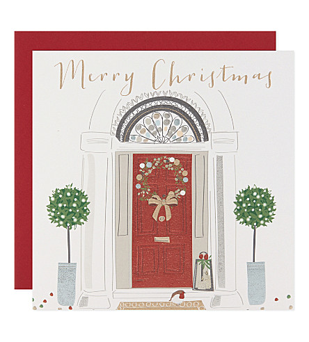 BELLY BUTTON Set of six Paloma Christmas door cards