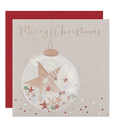 BELLY BUTTON Bauble Christmas cards pack of six
