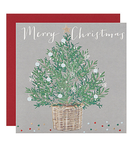 BELLY BUTTON Set of six Paloma Christmas tree cards