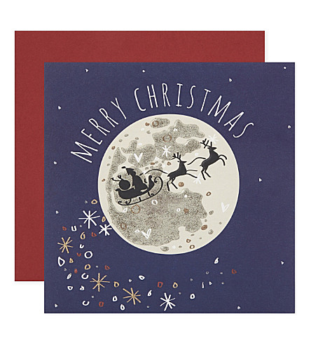 BELLY BUTTON Sleigh Merry Christmas cards pack of five