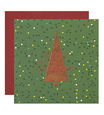 BELLY BUTTON Christmas tree cards pack of five