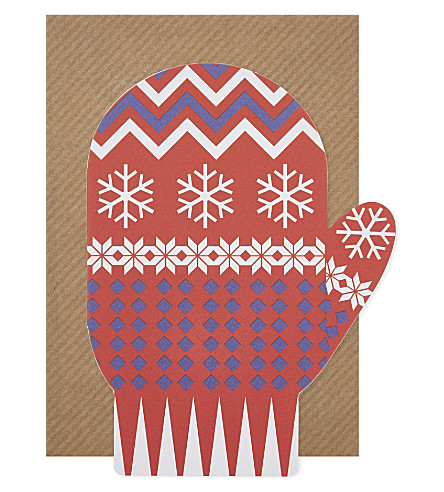 BOXED CARDS Mittens Christmas cards pack of six