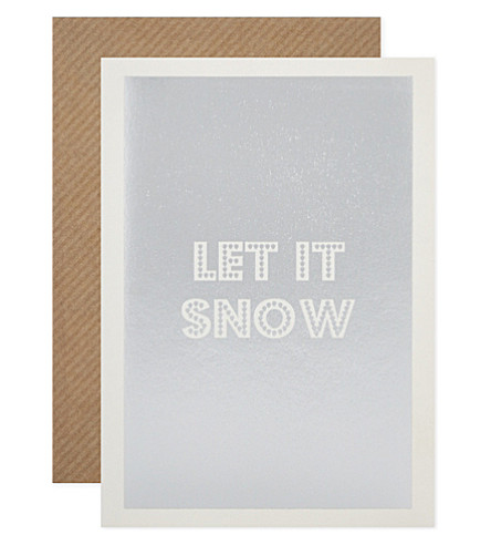 CARD Let it snow christmas cards set of 6