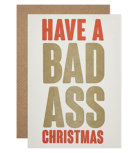 BOXED CARDS Bad Ass christmas cards pack of six