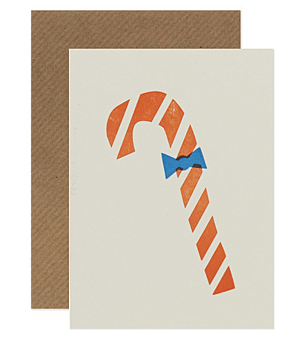 Candy cane christmas cards set of six