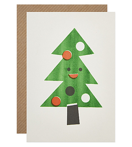 CARD Smiling tree christmas cards set of six