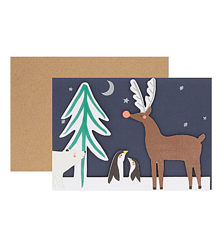 MERI MERI Woodland concertina christmas card