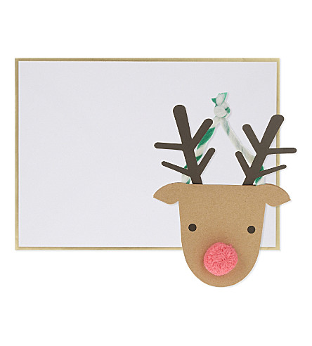 MERI MERI Rudolph hanging christmas card