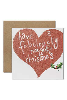 CHRISTMAS 'Have a Fabulous Naughty Christmas' card