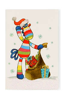 CHRISTMAS Striped Horse box of 20 mini cards