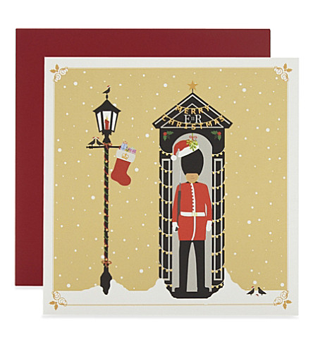 CARD Beefeater Christmas cards 6-pack
