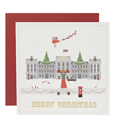 CARD Set of six buckingham palace christmas cards