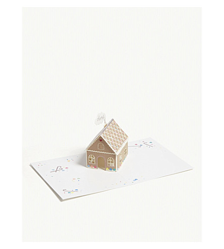 UWP LUXE Candy house pop-up Christmas card