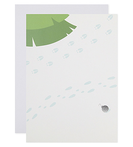 BOXED CARDS Tree Trimming set of 6 Pop-Up Christmas cards