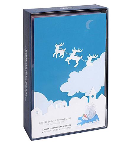 BOXED CARDS Robert Sabuda Reindeer Sleigh boxed Christmas cards x6