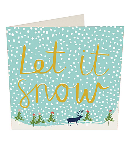 CARD Let it snow Christmas cards pack of five