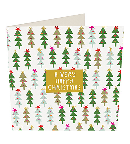 CARD Jumble trees Christmas cards pack of five