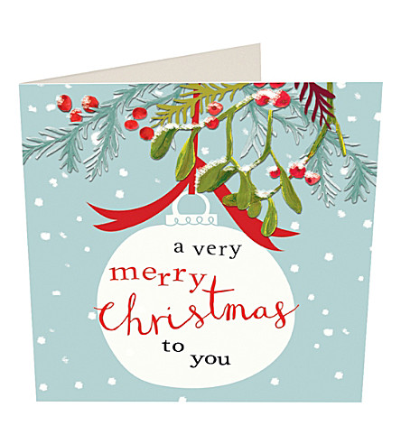 CARD A very merry Christmas to you Christmas cards pack of five