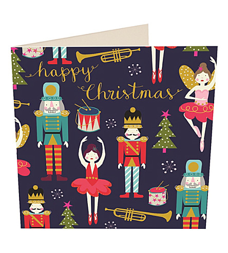 CARD Nut cracker Christmas cards pack of five
