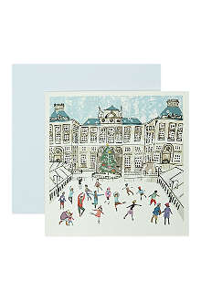 MUSEUMS + GALLERIES Skating at Somerset House set of 10 Christmas cards