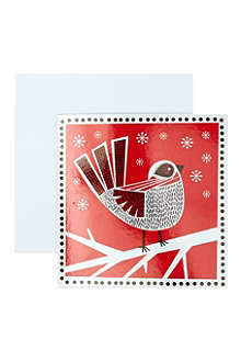MUSEUMS + GALLERIES Folk robin cards 5 pack