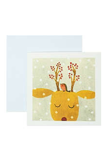 MUSEUMS + GALLERIES Festive reindeer cards 6 pack