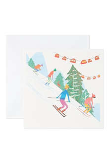 CHRISTMAS Winter fun set of 10 Christmas cards
