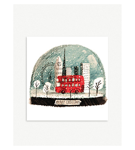 MUSEUMS + GALLERIES London snow globe set of 8 Christmas cards