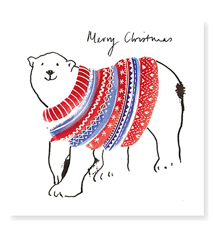 MUSEUMS + GALLERIES Polar bear Christmas card