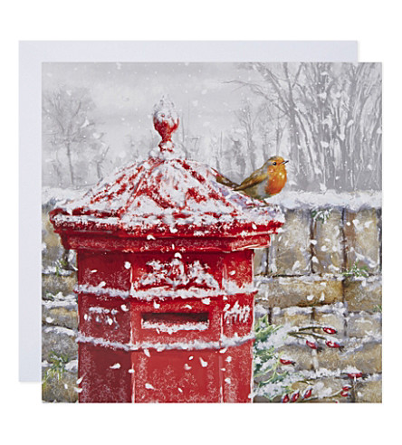 MUSEUMS + GALLERIES Winter post box christmas cards set of five