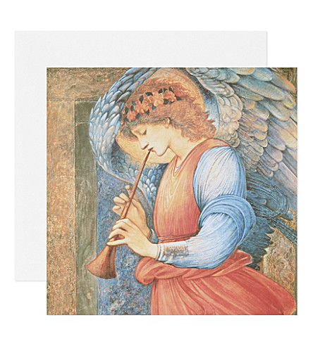 BOXED CARDS Angel Playing a Flageolet Christmas cards set of five
