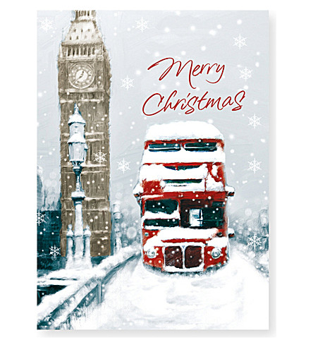 MUSEUMS + GALLERIES Westminster Bridge Christmas card