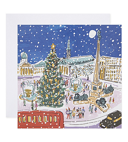 MUSEUMS + GALLERIES Trafalgar Square Christmas cards pack of eight