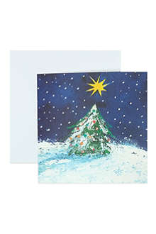 MUSEUMS + GALLERIES Christmas Tree and Stars cards 8 pack